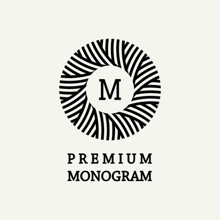 Stylish and graceful floral monogram design