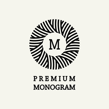 grabado antiguo: Dise�o del monograma floral con estilo y elegante