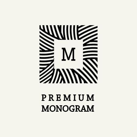 the elegant: Stylish and graceful floral monogram design