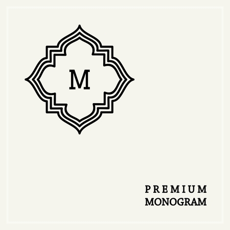 graceful: Stylish  graceful monogram , Elegant line art logo design in Art Nouveau style