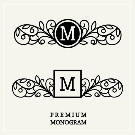 boutiques: Stylish  graceful monogram , Elegant line art logo design in Victorian Style