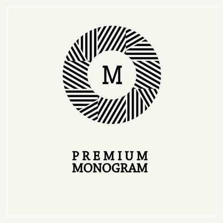 crown background: Stylish  graceful monogram , Elegant line art icon design in Art Nouveau style