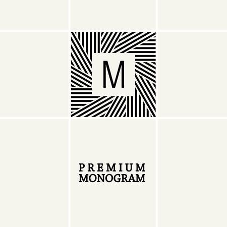 stylish decoration: Stylish  graceful monogram , Elegant line art icon design in Art Nouveau style