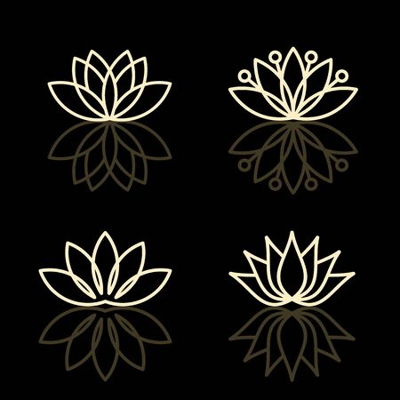 Vector floral icons and icon design templates