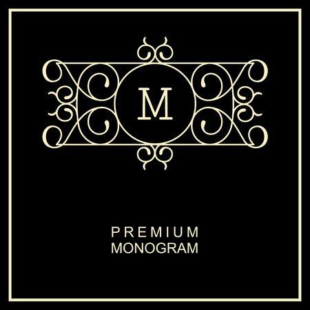 graceful: Stylish  graceful monogram ,  line art icon  Art Nouveau