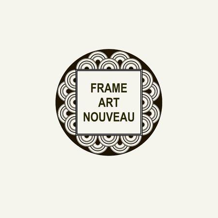 art nouveau frame: Premium Art Nouveau frame  art deco monogram design element