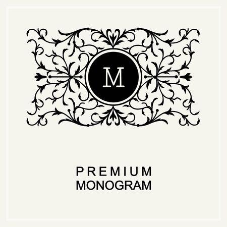 graceful: Stylish  graceful monogram ,  line art icon  Art Nouveau style