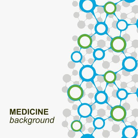 BIOLOGIA: Fondo del concepto con metaballs integradas para Business Company, médico, atención sanitaria, red, conectar, redes sociales y conceptos globales. Vectores