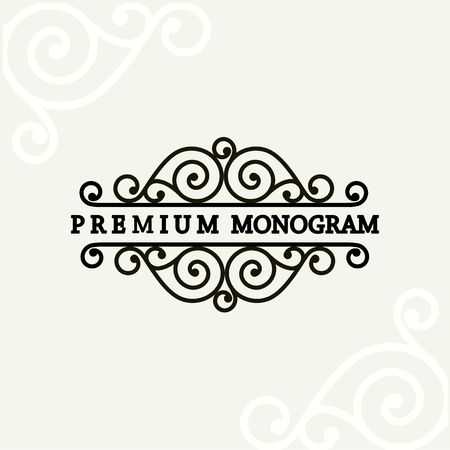 Beautiful floral monogram design , Elegant line art logo design, vector template Illustration