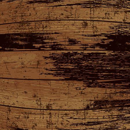 テンプレート グランジ ウッド テクスチャ。古い樽を断片化します。ベクトルの背景