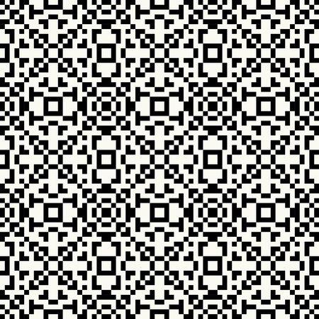 diamante negro: Inconformista de moda Negro y píxel blanco patrón transparente con motivos indios americanos en colores blanco y negro. Fondo azteca. Impresión textil con el ornamento tribal navajo. Arte del nativo americano.