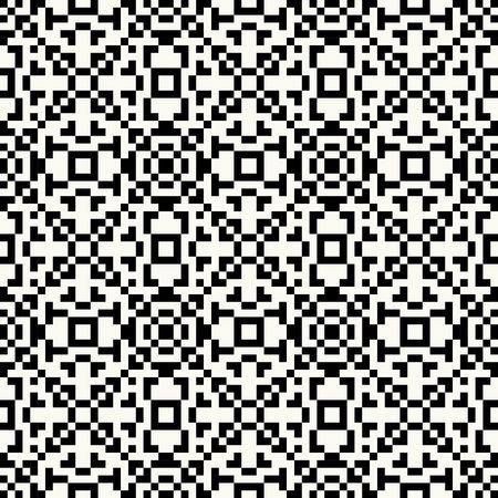pixel art: Trendy hipster Black and white pixel seamless pattern with american indian motifs in black and white colors. Aztec background. Textile print with navajo tribal ornament. Native american art.
