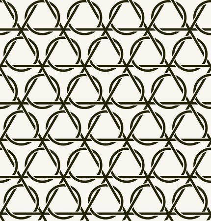 cordage: Vector seamless pattern. Modern stylish texture. Repeating intertwining cordage, ropes.