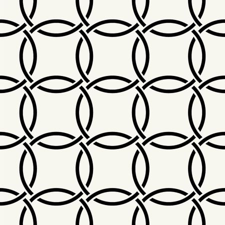 line drawing: Vector seamless pattern. Modern stylish texture. Repeating intertwining cordage, ropes.