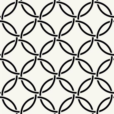 cordage: Vector seamless pattern. Modern stylish texture. Repeating intertwining cordage, ropes.