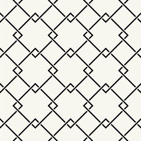 fondo blanco y negro: Modelo inconsútil del vector. Textura con estilo moderno. Repetición de cuerdas entrelazadas, cuerdas. Vectores