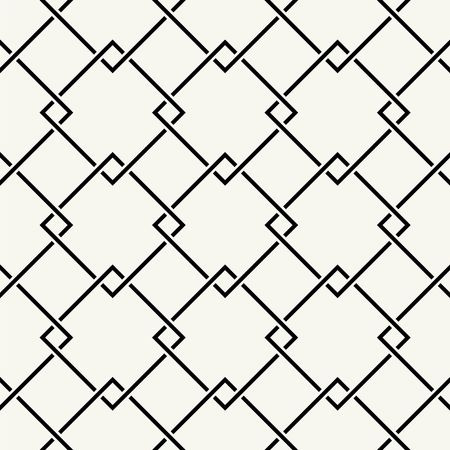 white  background: Vector seamless pattern. Modern stylish texture. Repeating intertwining cordage, ropes.