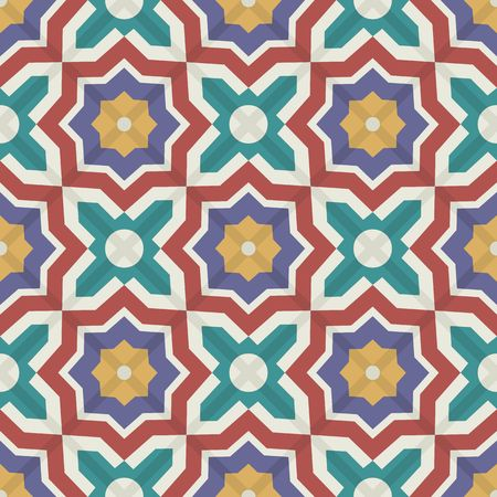 Gorgeous seamless patchwork pattern from colorful Moroccan tiles, ornaments. Can be used for wallpaper, pattern fills, web page background,surface textures. 일러스트
