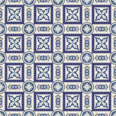 Magnifique patchwork sans couture du bleu foncé et blanc marocaine, azulejos portugais, Azulejo, ornements. Peut être utilisé pour le papier peint, motifs de remplissage, fond de page web, des textures de surface.