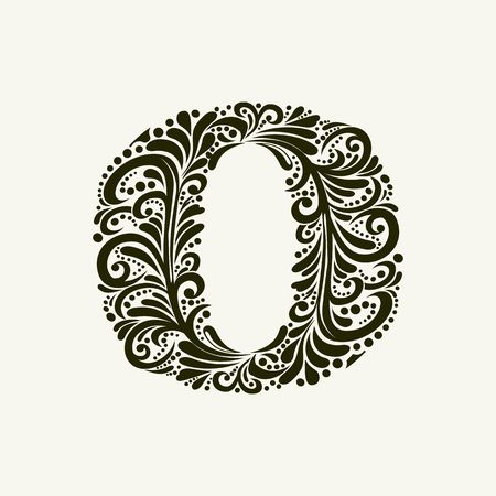 renaissance: Elegant capital letter O in the style of the Baroque. To use monograms, logos, emblems and initials.