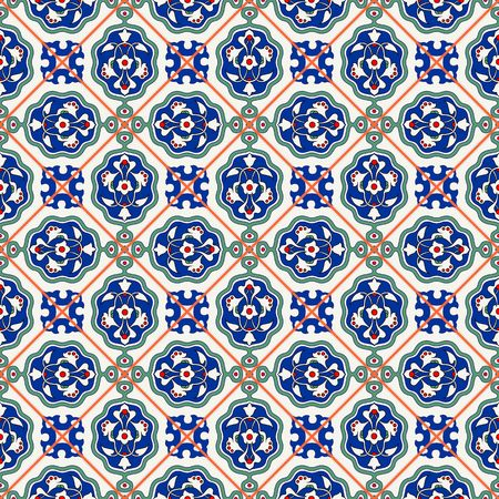 iznik: Gorgeous seamless  pattern  white Turkish tiles, ornaments.  Can be used for wallpaper, pattern fills, web page background,surface textures.