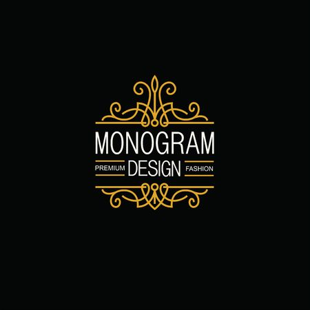 donne eleganti: Elegante logo Line Art e Monogram Design, modello vettoriale. Vettoriali