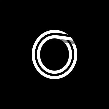 Capital letter O. Ilustração