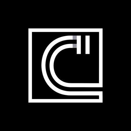C capital letter enclosed in a square.