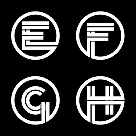 h: Capital letters E, F, G, H.