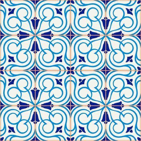 ceramic tiles: Gorgeous seamless  pattern  white Turkish, Moroccan, Portuguese  tiles, Azulejo, Arabic ornament.