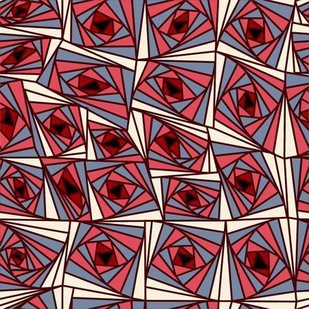Zusammenfassung Hintergrund geometrische Blumen bunte Muster. Vektor