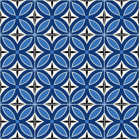 iznik: Gorgeous seamless  pattern  white Turkish, Moroccan, Portuguese  tiles, Azulejo, Arabic ornament.