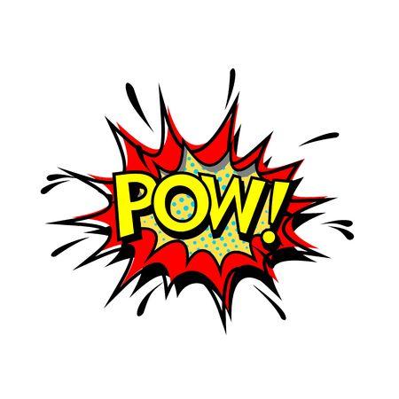 Pow. Pop Art, Comic Book Style. Vector