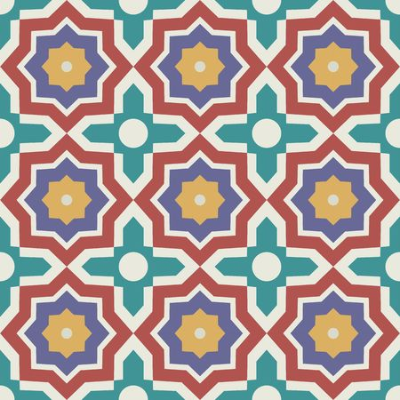 islamic pattern: Vector seamless pattern. Colorful ethnic ornament. Arabesque style. Islamic art.