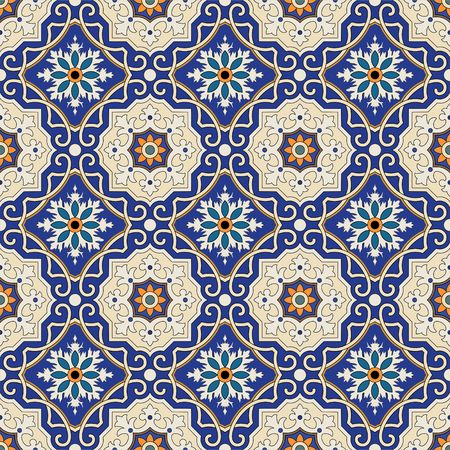 islamic: Vector seamless pattern. Colorful ethnic ornament. Arabesque style. Islamic art.