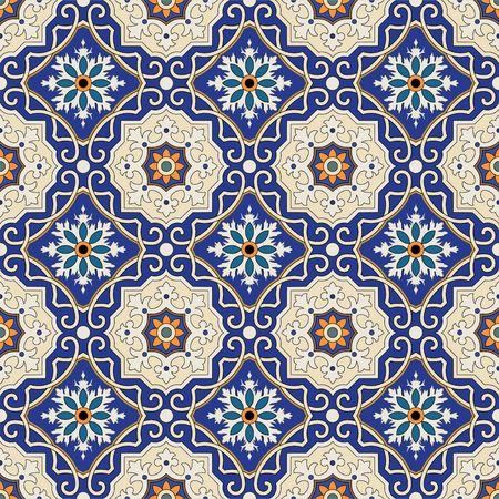arabesco: Vector sin patrón. ornamento de colores étnicos. estilo arabesco. arte islámico.