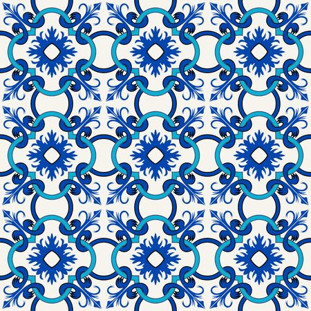 pattern antique: Vector seamless pattern. Colorful ethnic ornament. Arabesque style. Islamic art.