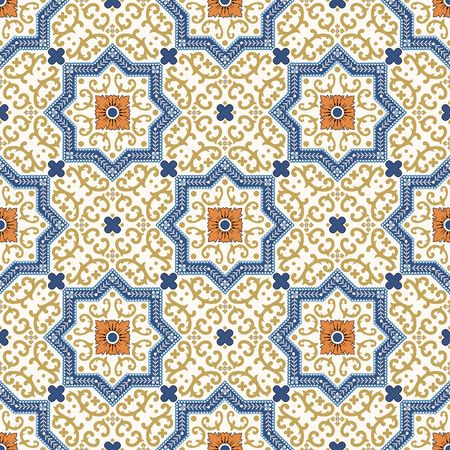 seamless tile: Vector seamless pattern. Colorful ethnic ornament. Arabesque style. Islamic art.
