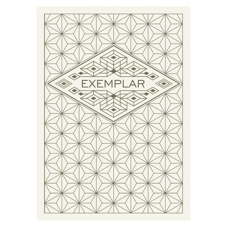title page: Vintage Luxury Antique Art Deco Flourishes frame. Ornamental Greeting Card Template. Background cover. Title page. Illustration