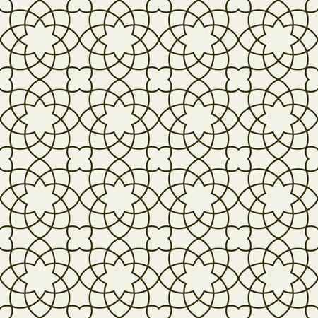 arabesque pattern: Gorgeous Seamless Arabic Pattern Design. Monochrome Wallpaper or Background. Illustration