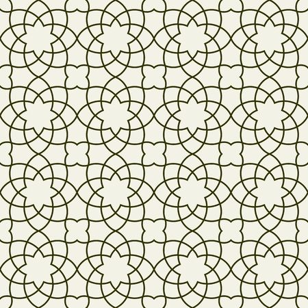 Gorgeous Seamless Arabic Pattern Design. Monochrome Wallpaper or Background. Illustration