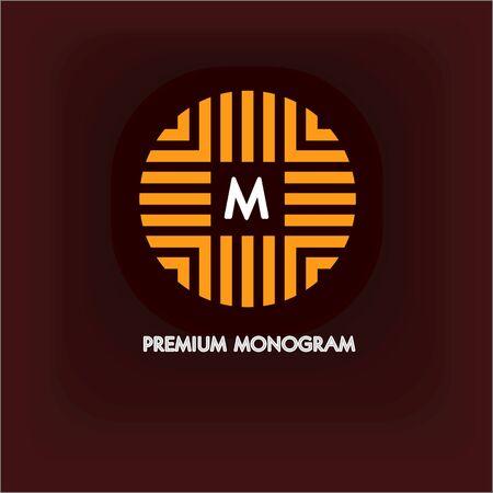 cíclico: monograma moderno, emblema
