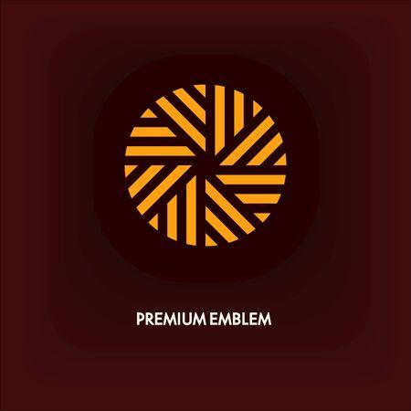 Modern monogram, emblem