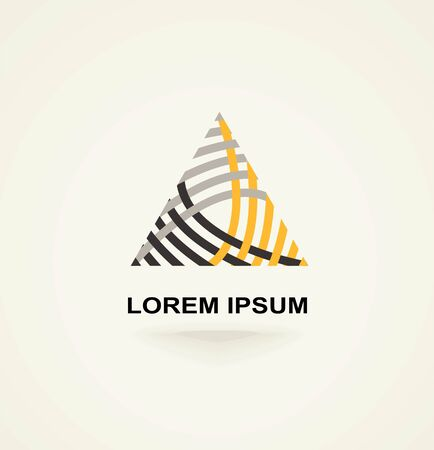 loop: Conceptual creative technology vector abstract triangle icon template