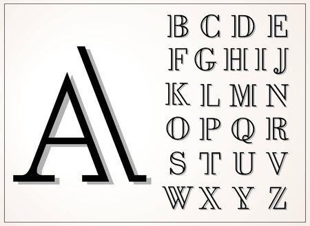 sans: light and elegant display font, lines of equal thickness Illustration
