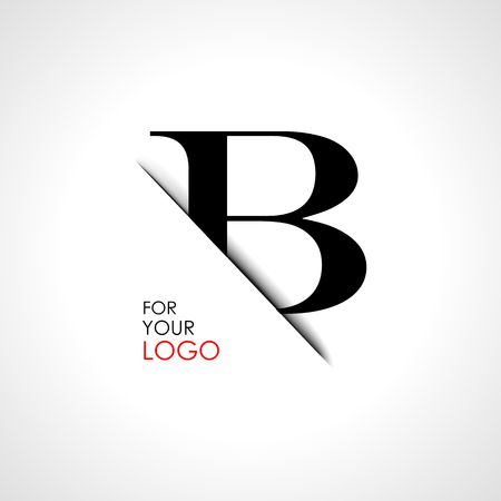 Capital b letter is inserted in the paper slot. To create logos, emblems, monograms.