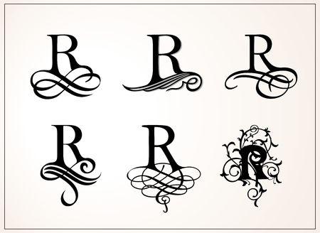 Vintage Set of Capital Letter R