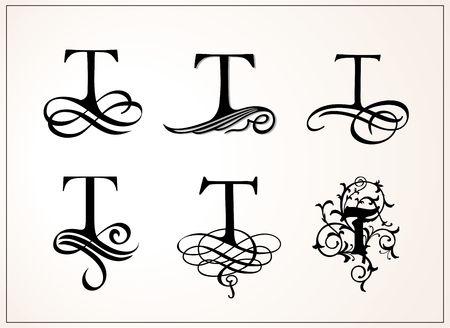 Vintage Set of Capital Letter T