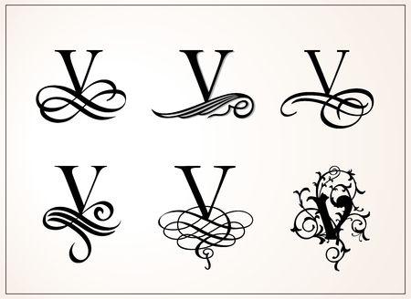 Vintage Set of Capital Letter V