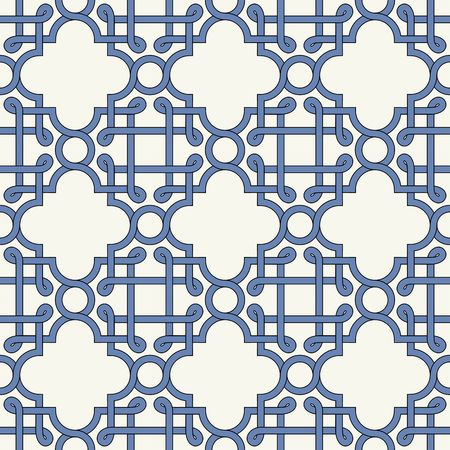 Gorgeous seamless pattern from tiles and border. Moroccan, Portuguese, Mexican, Arabic, Azulejo ornaments. Can be used for wallpaper, pattern fills, web page background,surface textures